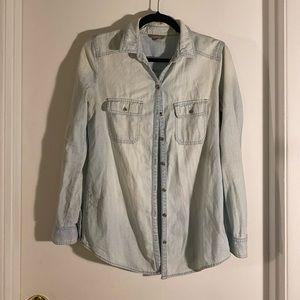Flannel jean top
